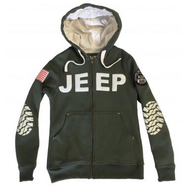 Hoodies homme kaki Jeep