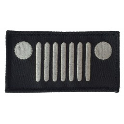 Badge brodé Velcro Jeep Calandre